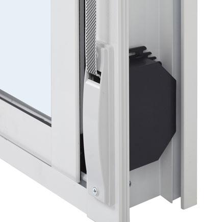 Detalle ventana PVC 2 hojas corredera con persiana