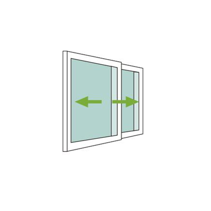 mecanismo ventana pvc 2 hojas corrdera con persiana