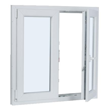 ventana PVC 2 hojas oscilo-abatible sin persiana