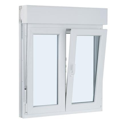 ventana pvc 2 Hojas oscilo-batiente con persiana